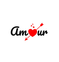 Amour word text typography design logo icon vector