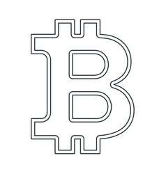 bitcon sign icon outline vector image