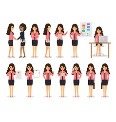 Business woman characters vector