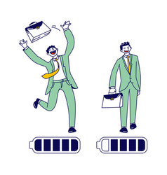 businessman character with high energy level vector image