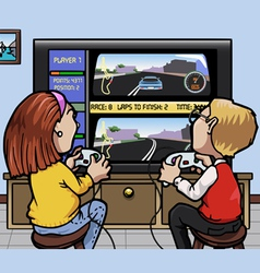 car racing videogames vector image
