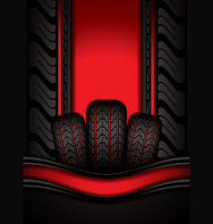 car tires vector image