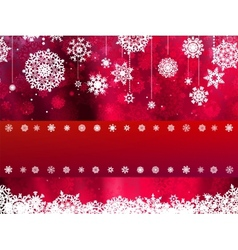 Christmas card with red snowflake EPS 8 vector image