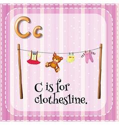 Clothesline vector