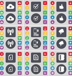Cloud Tick Like Wi-Fi Smartphone Lightning Text vector image