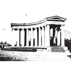 colonnade vector image