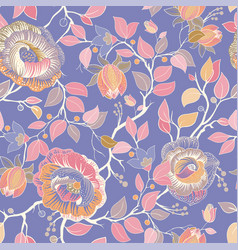 colorful floral pattern wallpaper with big vector image