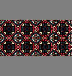 damask seamless pattern background elegant vector image