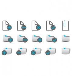 database management icons vector image