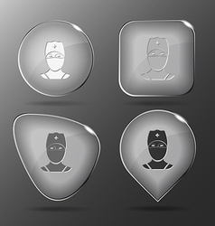 Doctor Glass buttons vector