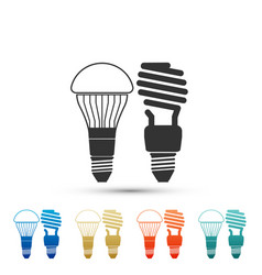 economical led illuminated fluorescent lightbulb vector image