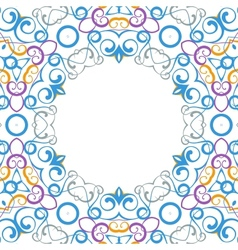 Formality circular devices of border frames vector