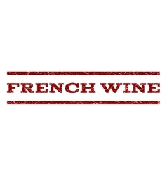 French Wine Watermark Stamp vector image