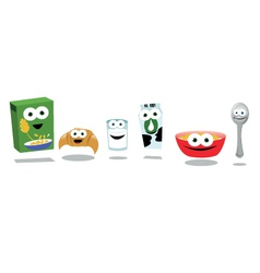 Funny Breakfast Friends vector image