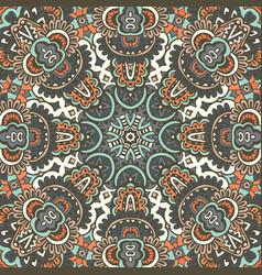 geometric aztec mandala ethnic seamless pattern vector image