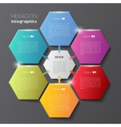 Geometric hexagon infographic concept vector image