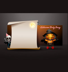 halloween night full moon party fancy invitation vector image