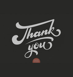 Hand drawn lettering thank you elegant modern vector