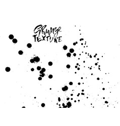 Handdrawn grunge texture abstract ink drops vector