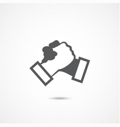 handshake icon on white vector image