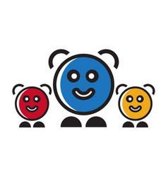 happy kids symbol vector image