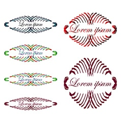 Headpieces vector image
