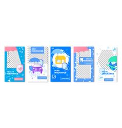 Health insurance home social media template banner vector