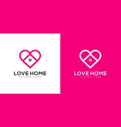 home love logo design vector image
