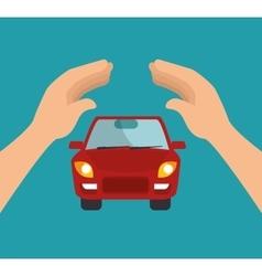 icon insurance car security design vector image