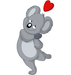 in love koala bear vector image