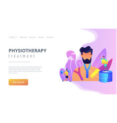 kinesiology taping concept landing page vector image