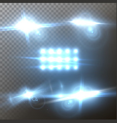 Lens flare set realistic flare glow effect vector