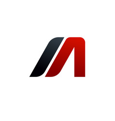 Letter a m logo speed logo design concept vector