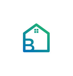 Letter b architect home construction creative vector