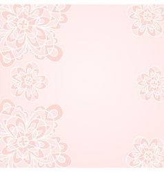 Light creamy floral ethnic background vector