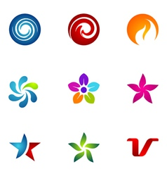 logo design elements set 74 vector image
