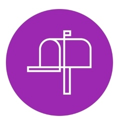 Mail box line icon vector