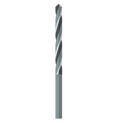 Metal drill bit flat icon isolated on white vector