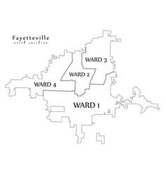 modern city map - fayetteville north carolina vector image