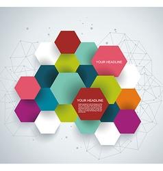 Modern Design with paper hexagones vector image