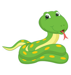 Of a cartoon snake vector
