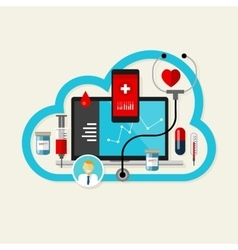 online cloud medical health internet medication vector image