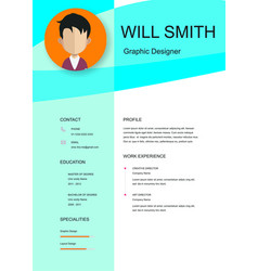 Resume template cv creative background imag vector