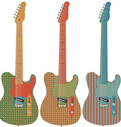 Retro guitar set vector