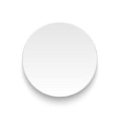Round empty plate vector