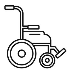 Safety wheelchair icon outline style vector