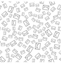 Seamless pattern with mail envelopes vector