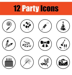 Set of celebration icons vector image
