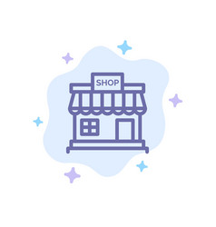 shop store online store market blue icon on vector image