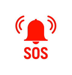 sos icon emergency alarm button sos sign symbol vector image